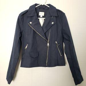 NWT Nine West Asymmetrical Zip Suede Jacket